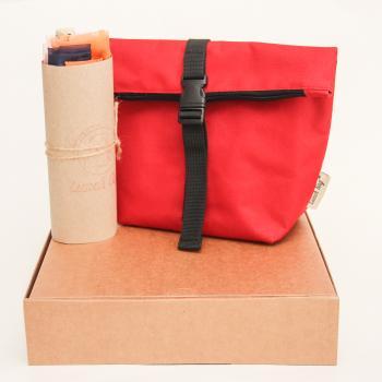 Подарунковий набір - Термосумка Lunch bag S і торбинки сіточки для покупок 3 шт