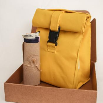 Подарунковий набір - Термосумка Lunch bag M і торбинки сіточки для покупок 3 шт