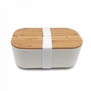 Ланч бокс з бамбука Bamboo Box Be Different білий