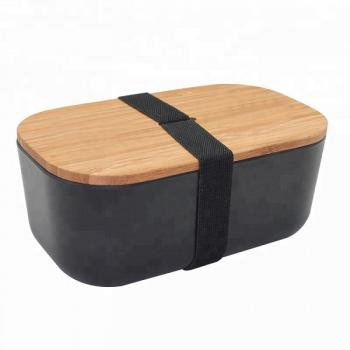 Ланч бокс з бамбука Bamboo Box Be Different Чорний