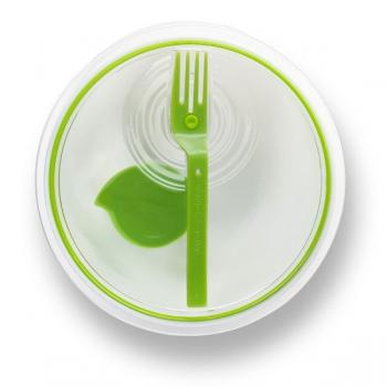 Ланч бокс круглий Lunch Bowl Black+Blum Білий / Зелений