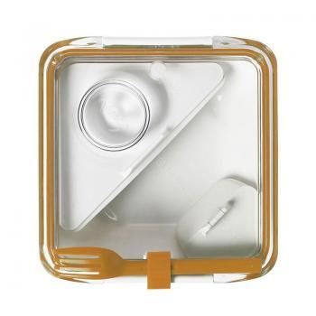 Ланч бокс квадратний Box Appetit Black+Blum Білий / Помаранчевий