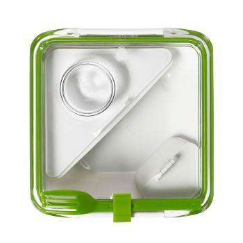 Ланч бокс квадратний Box Appetit Black+Blum Білий / Зелений