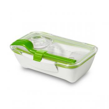 Ланч бокс прямокутний Bento Box Black+Blum Білий / Зелений