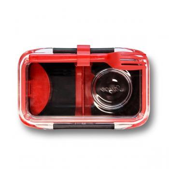 Ланч бокс прямокутний Bento Box Black+Blum Чорний / Червоний