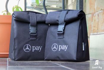 Черная термосумка Lunch bag M с логотипом