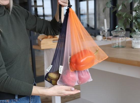 Багаторазові торбинки сіточки для покупок 5 шт